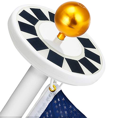Hallomall Flagpole Solar Light 30LED Downlight Lighting for 15 to 25 Ft Flag Pole Topper, Auto On/Off Night Light For Sale