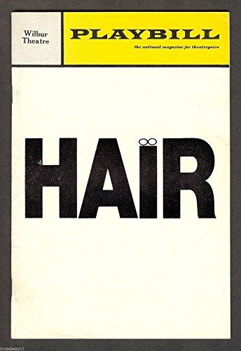 "Galt MacDermot ""HAIR"" American Tribal-Love Rock Musical 1970 Boston Playbill"