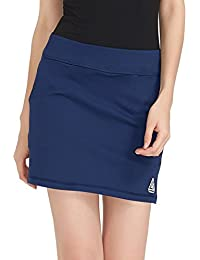 48ac62d810 Women Active Athletic Skorts with Pockets - Lightweight Quick Dry Skirt  with Short for Workout Sports