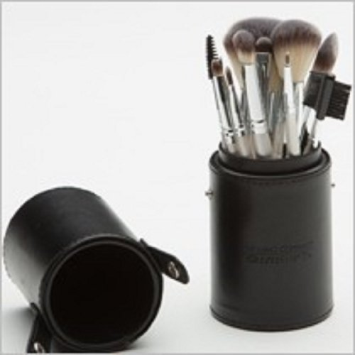 12-pc-Professional-Cosmetic-Brush-Set-Black-with-Travel-Case-by-Lano-by-Lano