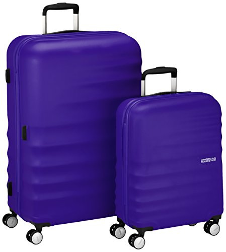 American Tourister Wavebreaker Set di Valigie 2 Pezzi, Nautical Blue, 96 ml, 77 cm