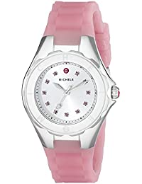 Womens MWW12P000008 Jellybean Stainless Steel Watch with Pink Topaz Stones