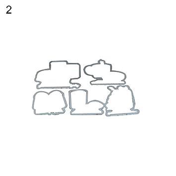 Plantilla de troquelado para pan y café, para manualidades, manualidades, álbumes de recortes 2#: Amazon.es: Hogar