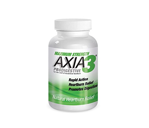 Natural Antacid Supplement for Acid Reflux, Heartburn, GERD, EOMS, Long Distance Running & Nightime Heartburn Relief, Max Strength Axia3 ProDigestive Heartburn Relief 90 Count Bottle by Axia Essentials