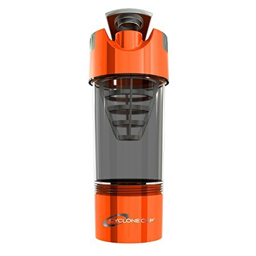 Cyclone Cup 20oz Blender Mixer Bottle Protein Shaker with Compartment-Orange color
