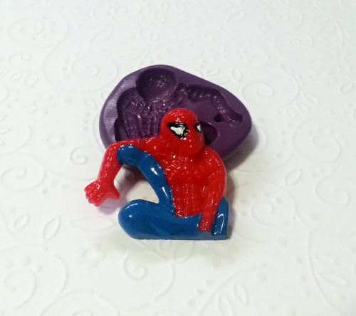 Silicone Mold Avengers Spiderman Mould (33mm) Fondant Cupcake Topper Sugarcraft