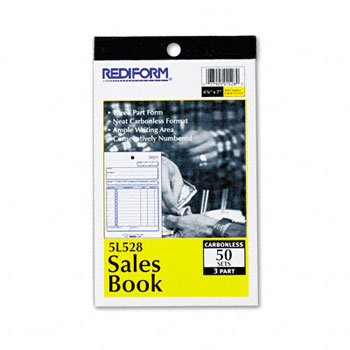 Rediform-Blueline 5L528 4-1/4'' X 6-3/8'' Carbonless Triplicate Sales Book by REDIFM