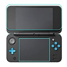 1 Set 9H Hardness Tempered Glass Screen Protector Film Anti-Scratch High Definition 1 Top + 1 Bottom for Nintendo New 2DS XL LL
