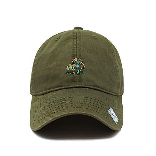 Dragon Ball Design Dad Hat | Cotton Baseball Cap | 6 Colors (Army Green)