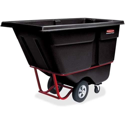 Rubbermaid Commercial Commercial Rotomolded Tilt Truck, Rectangular, Plastic, 1250-lb Cap, Black