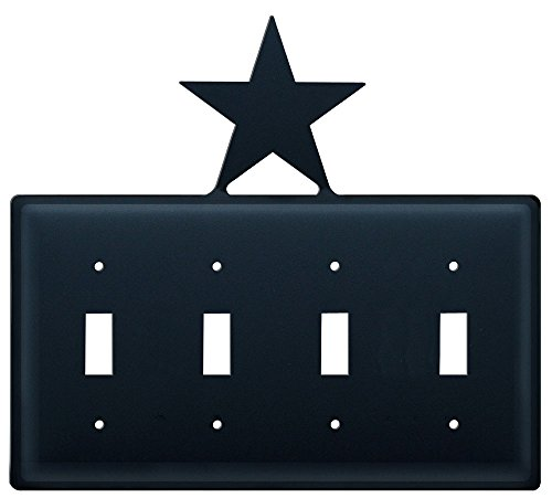 - 8.25 Inch Star Quadruple Switch Cover
