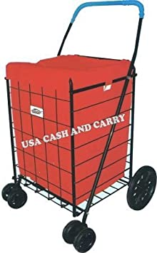 PrimeTrendz TM Jumbo Shopping Cart Liner securely to your shopping cart using loop fasteners. (this listing is only for the Liner Insert Cover, Shopping cart not included). PT-UCAC-99500-BLK