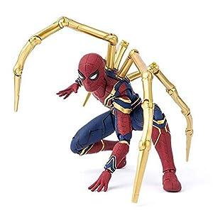 JTWMY Collection de Jouets pour Enfants Marvel Avengers 4 Iron Spiderman 16 cm Spider-Man Superhero Figure Modèle