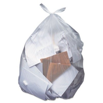 Clear 30 x 36 HER H6036HC Low-Density Can Liners 20-30 gal.65mil 250//Carton