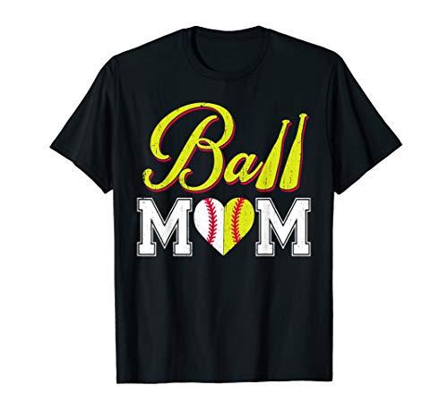 (Funny Ball Mom Softball Baseball T-Shirt)