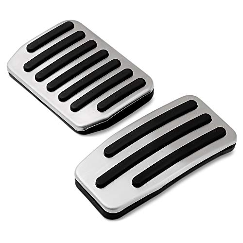 Non Slip Performance Foot Pedal Pads Auto Aluminum Pedal Covers Fit Tesla Model 3 Accessories Set of 2