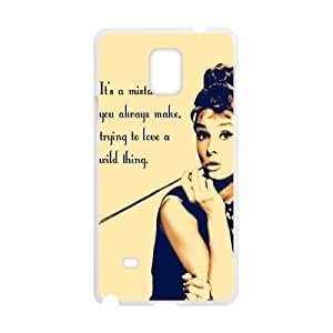Audrey Hepburn Quotes Classic Personalized Phone Case for Samsung Galaxy Note 4,custom cover case ygtg-781194