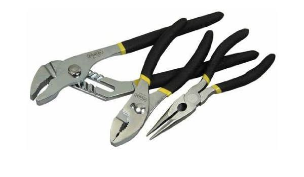 Stanley 84-892 3 Piece Basic 6-Inch Slip Joint Long Nose and Groove Joint Plier Set - - Amazon.com