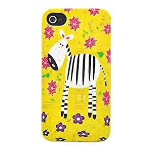 JAJAY- ships in 48 hours ABS Hand Painted Zebra Pattern Back Case for iPhone 4/4S