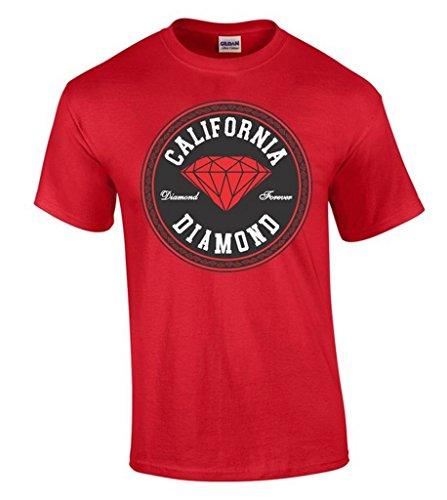 icustomworld California Red Diamond T-shirt Diamond Forever Pattern Shirts