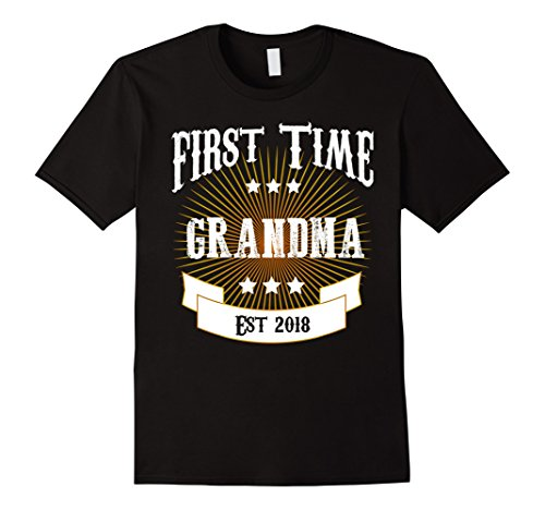 Funny Family Matching First Time Grandma Est 2018 Shirt
