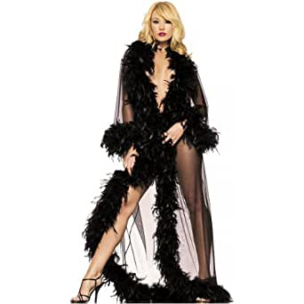 Glamour Robe Adult Lingerie Black - One Size