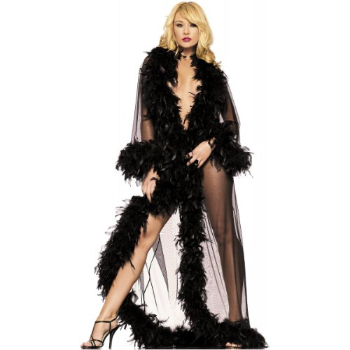 Glamour Robe Adult Lingerie Black - One -