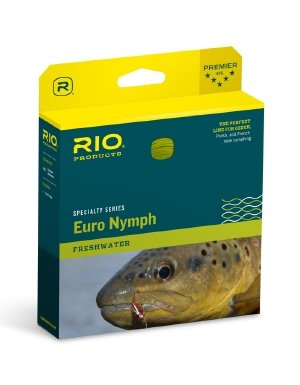 Rio Products Fly Fishing Euro Nymph Fly Line (2-5wt Tip/Moss Green