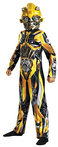 Classic Bumblebee Girls Costumes (UHC Boy's Bumblebee Classic Movie Theme Fancy Dress Child Halloween Costume, Child M (7-8))