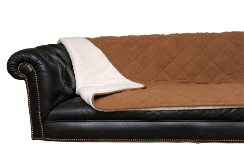 CPC Diamond Quilted Microfiber Sherpa Pet Throw, 54 by 80-Inch, Saddle by Cpc
