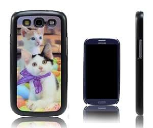 Xcessor Cats Gatos 3D Holographic Funda Carcasa Para el Samsung Galaxy S3 i9300