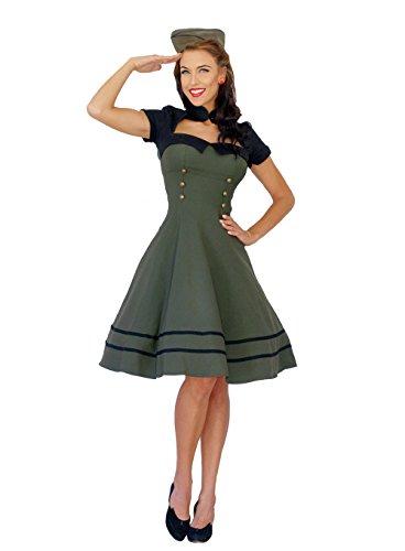 Pin Up Uniform Retro rockabilly Bolero SWING Kleid Petticoatkleid S