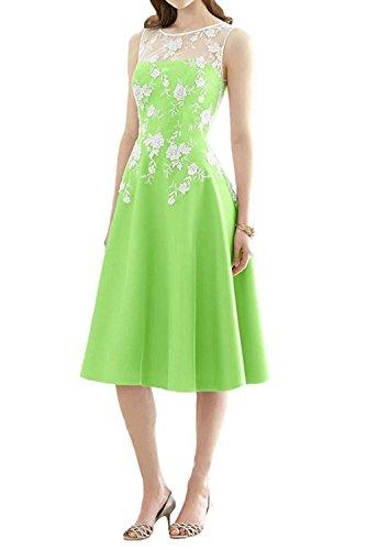 Brautjungfernkleid Festkleid Linie Partykleid Ballkleider A Abendkleid Kurz Satin Grün 1pwBqnx6