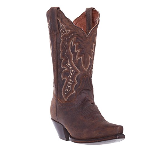 Apache Bay Cowgirl Boots - Silver Canyon Womens Stampede Distressed Brown Snip Toe Western Cowboy Boot,Distressed Brown,7.5 B(M) US
