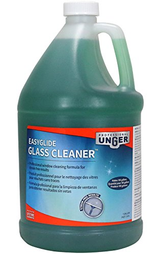 (Unger Professional Streak-Free EasyGlide Glass Cleaner Concentrate (Makes 100 Gallons), 1 Gallon)