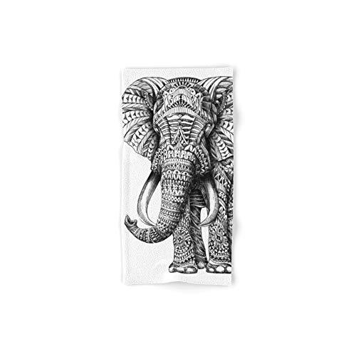 Society6 Bath Towel, 30'' x 15'', Ornate Elephant by bioworkz by Society6
