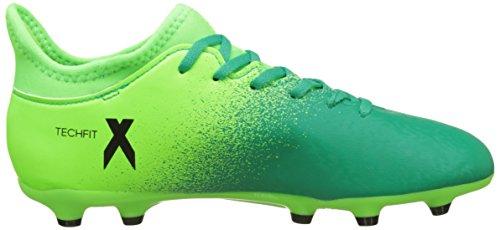 adidas Unisex-Kinder X 16.3 FG J Fußballschuhe, Nero,Rosso, 32 EU Green