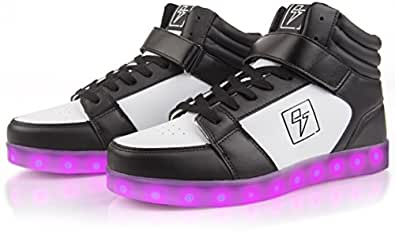 electric styles Light Up Shoes - High Tops Black Size: 6 Women/4 Men