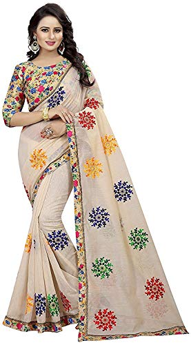 68ba414c0841db Rumon New Georgette Saree for Women with Blouse Piece Material