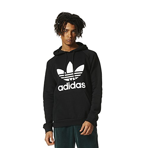 adidas Originals Men's Outerwear | Trefoil Hoodie, Black, Large by adidas Originals