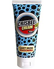 Crisbee Cream Iron Cast Iron and Carbon Steel Seasoning - Family Made in USA - The Cast Iron Seasoning Oil & Conditioner Preferred by Experts - Maintain a Cleaner Non-Stick Skillet