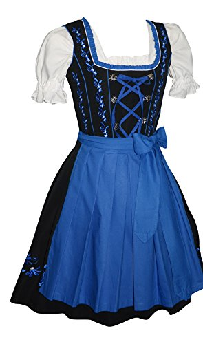 3-Piece Short German Party Oktoberfest Waitress Dress (10) by Edelweiss Creek