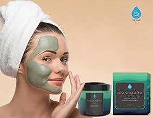 Pursonic dead sea mud mask for face, acne, oily skin & blackheads, 100% natural 8oz