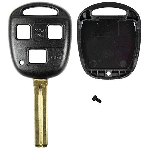 Qualitykeylessplus Black Replacement Rhk Case 3 Button High Security Blade Remote Key Fob Fcc Hyq12bbt Free Keytag
