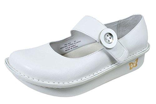 Alegria Women's White Nappa Alegria Paloma Professional Solid 35 M EU / 5-5.5 B(M) US