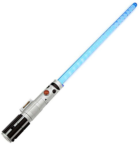 Star Wars: The Force Awakens Rey's Electronic Lightsaber with Dueling Lightsaber Effect and Motion Sensor Battle-Clash Rumble Lights And Sounds by Disney by Disney (Image #2)