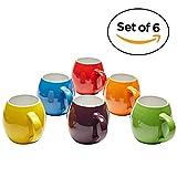 Premium Ceramic Set of 6, Colorful Meal Stoneware (6 Coffee Mugs)