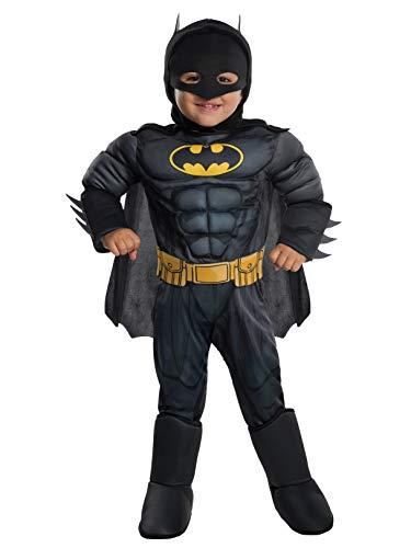 Rubie's Costume DC Comics Toddler Deluxe Batman Costume, X-Small, (Best Kids Batman Costume)