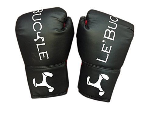 Le Buckle Training Boxing Gloves  Black   red, 10oz