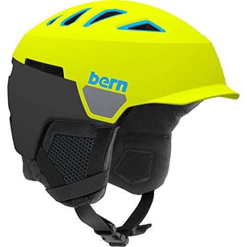 Bern Men's Heist Brim Helmet (Matte Neon Yellow with Black Liner, Medium) (Bern Yellow Helmet)